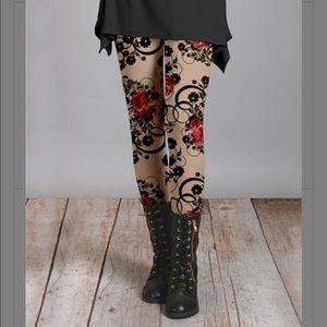 Lily Floral Leggings PLUS Sizes
